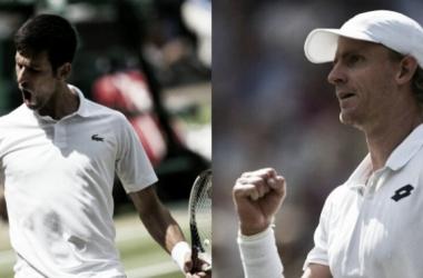 Djokovic alcanzó su octava semifinal en Wimbledon, Anderson la primera.   Foto: Prensa Wimbledon.