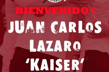 Cartel anunciador de uno de los fichajes (fuente CD Vitoria)