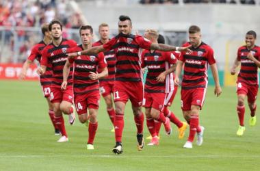 Lezcano puts Ingolstadt into the lead. | Credit: FC Ingolstadt 04.