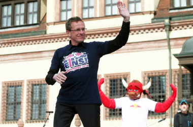 Ralf Rangnick led Leipzig to promotion in 2016. | Photo: RB Leipzig.