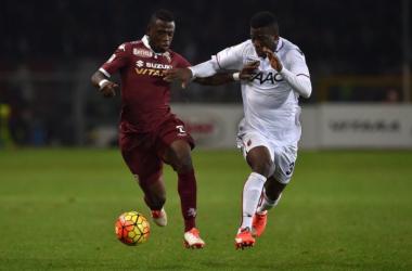 Godfred Donsah in azione con la maglia del Bologna. | Twitter Acquah