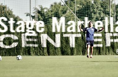 Míchel en el stage de pretemporada del año pasado en Marbella | Fotografía: Rayo Vallecano