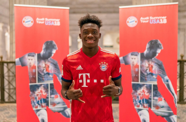 Alphonso Davies. | Photo: Bayern Munich.