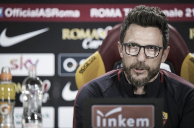 """Di Francesco: """"Ante el Inter vi un poco de lo que quiero que sea esta Roma"""""""