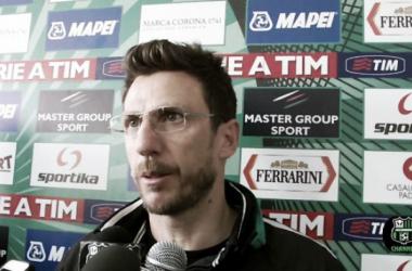 """Sassuolo, Di Francesco: """"Siamo decimati, ma contro l'Inter voglio un cuore grande"""""""