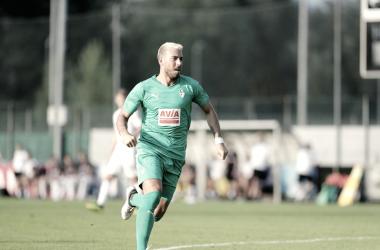 Sergi Enrich, goleador durante el encuentro // Foto SD Eibar