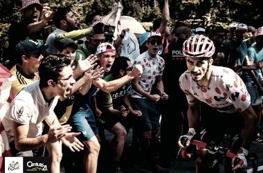 Alaphilippe dándolo todo y consolidando su maillot como mejor escalador (ASO/ Gurbier/ Tour de France)