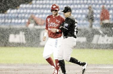 La lluvia, ingrediente del juego | Foto: Diablos Rojos del México
