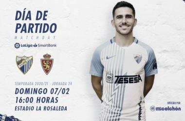 Día de partido, posando Jairo. / Foto: Málaga CF