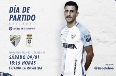 Previa Málaga CF - Real Oviedo: objetivo volver a ganar