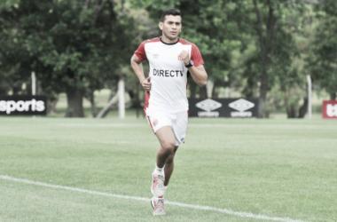 Diarte en el entrenamiento. Foto: Página oficial de Estudiantes de la Plata.
