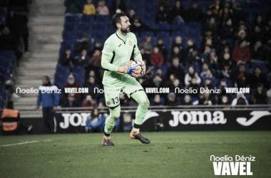 Diego López en el partido ante el Villarreal. Foto: Noelia Déniz.