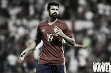 Diego Costa en un partido con la Selección Español. Fotografía: Carla Cortés (Vavel)