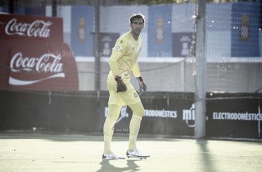 Diego López durante un partido de la pasada pretemporada con el conjunto perico | Foto: Noelia Déniz - VAVEL