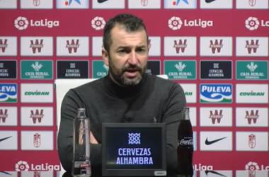 Diego Martínez en rueda de prensa tras el partido contra Osasuna | Foto: Captura Youtube