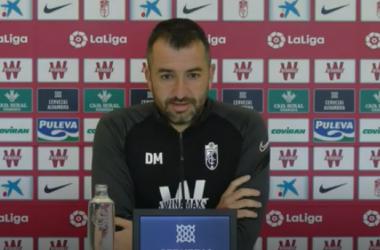 Diego Martínez en rueda de prensa | Foto: Youtube Granada CF