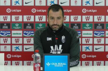 Diego Martínez durante la rueda de prensa | Foto: Captura GCF Youtube