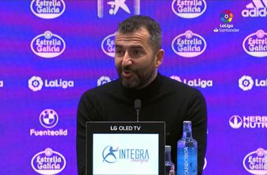 Diego Martínez en la rueda de prensa del estadio de Zorrilla | Foto: Captura LaLiga Youtube