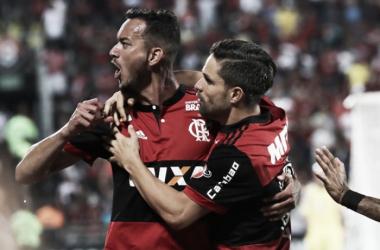 Réver e DIego marcaram os gols do Flamengo. Foto: Gilvan de Souza/Flamengo