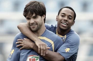 Diego e Robinho de volta ao Engenhão: na última vez, empate por sem gols contra Bolívia