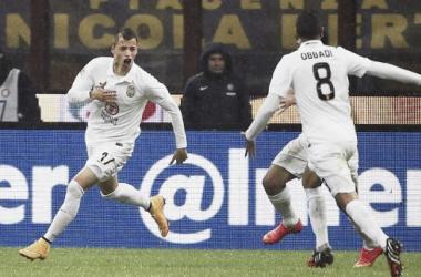 Nico López celebrando su gol al Inter en el minuto 89 (FOTO:espnfc).