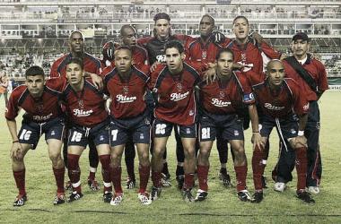 El 11 del DIM antes del compromiso con Boca por la Copa Libertadores en la que culminó tercero | Fotografía: Pinterest