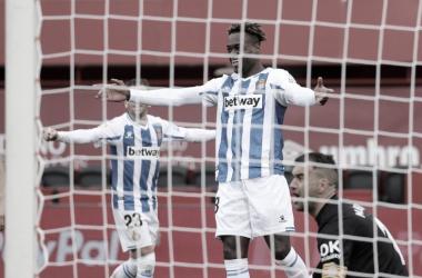 Dimata celebrando su gol. Fotografía: RCD Espanyol S.A
