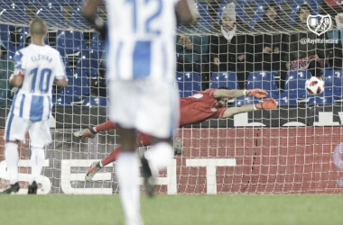 Stole durante el partido de Copa. Fotografía: Rayo Vallecano S.A.D