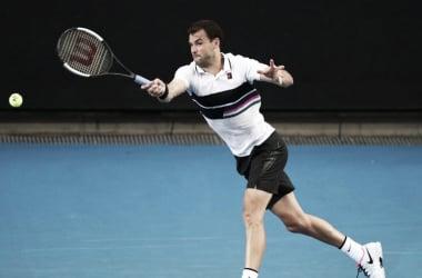 Grigor Dimitrov disputando un punto ante Fabbiano. / Foto: www.atpworldtour.com