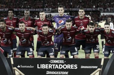 Formación del DIM vs Melgar en la Copa Libertadores 2017. Foto: Deportes RCN
