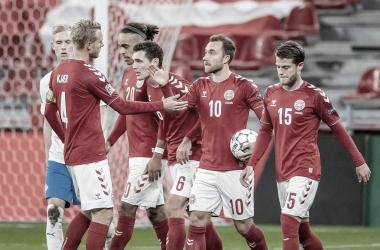 Com gol nos acréscimos, Dinamarca vence Islândia e segue viva na Nations League