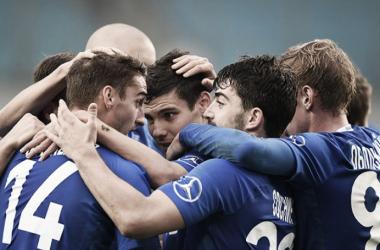 Los jugadores del Dinamo festejando uno de sus goles. | Foto: Dinamo.