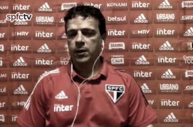 Fernando Diniz após Athletico 1-1 São Paulo (SPFCTV / Reprodução)