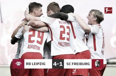 Bundesliga - Rimonta Lipsia, 4-1 al Friburgo