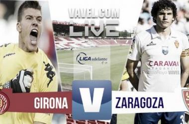 Resultado del Girona - Real Zaragoza de la vuelta en los playoffs de ascenso a Primera (1-4)