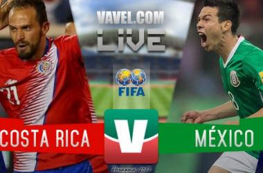 Resultado del partido Costa Rica vs México en Eliminatorias Mundialistas (1-1)