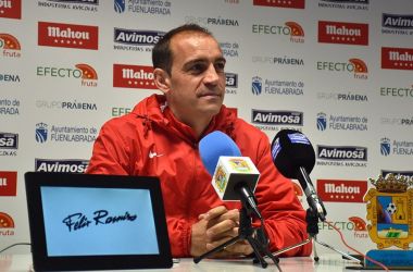 Eloy Jiménez en una rueda de prensa / Foto: CF Fuenlabrada