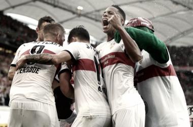 La gioia dei giocatori dello Stoccarda. Foto: Twitter