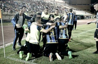 Mineros celebrando un gol ante Estudiantes / FOTO: Asociación FUTVE