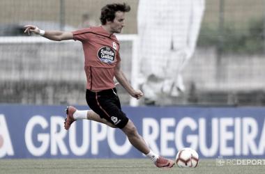 Pedro Mosquera entrenando en Abegondo // RCDeportivo