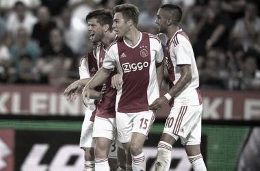 El Ajax celebra su pase a la siguiente fase previa de la UCL / @AFCAJAX