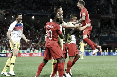 Celebración inglesa. Foto: FIFA