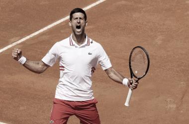 Novak Djokovic venceu Stefanos Tsitsipas noMasters 1000 de Roma 2021 (ATP / Divulgação)