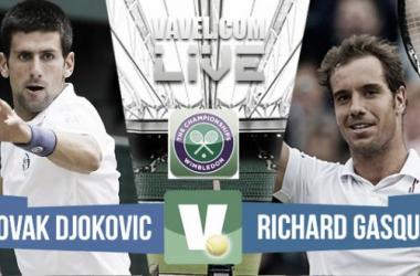 Resultado Novak Djokovic - Richard Gasquet en semifinales de Wimbledon 2015 (3-0)