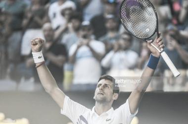 Djokovic celebra la victoria. Foto: Getty Images.