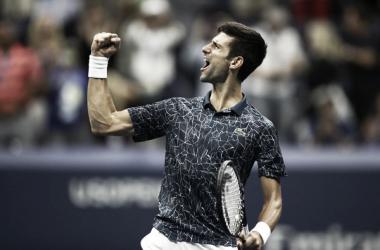 Djokovic celebrando su acceso a la final. Foto: Zimbio.com