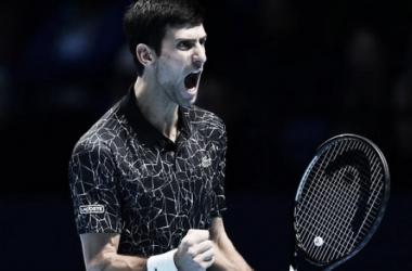 Festeja Nole: Buen triunfo de Djokovic en Londres. Foto: Diario El Comercio