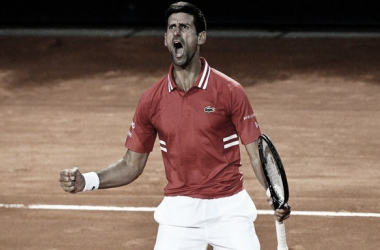 Novak Djokovic celebrando el pase a la final del torneo italiano. (Fuente: Twitter @atptour)