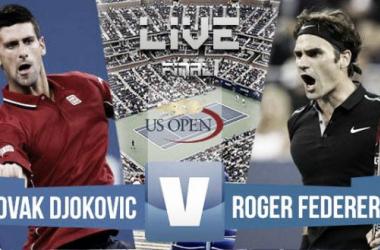 Resultado del Novak Djokovic - Roger Federer en la final US Open 2015 (3-1)