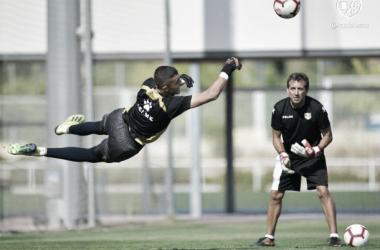 Miguel Morro durante un entrenamiento | Fotografía: Rayo Vallecano S.A.D.